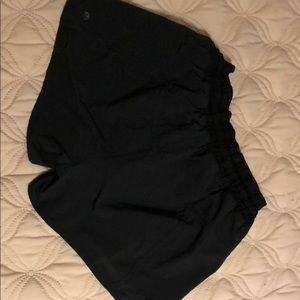 Black lululemon tracker shorts